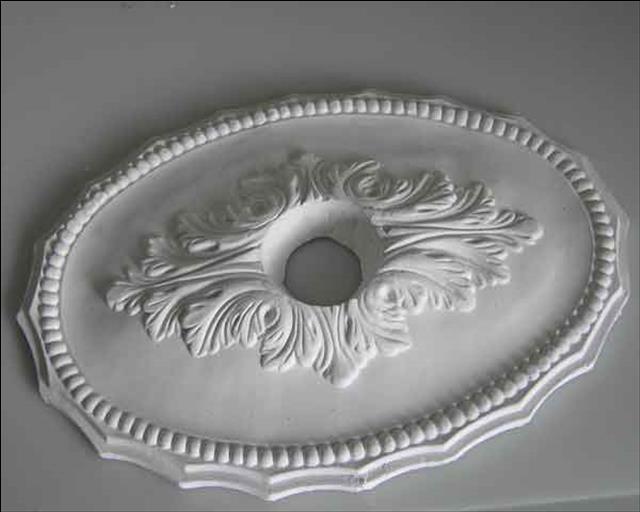 ovale stuck rosette aus gips stuckrosette deckenrosette. Black Bedroom Furniture Sets. Home Design Ideas