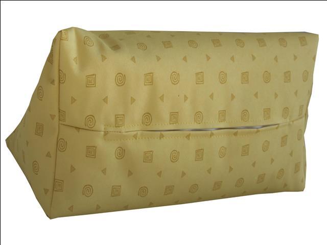 lesekissen keilkissen kissen nackenkissen sofakissen kunsleder gelb mit muster ebay. Black Bedroom Furniture Sets. Home Design Ideas