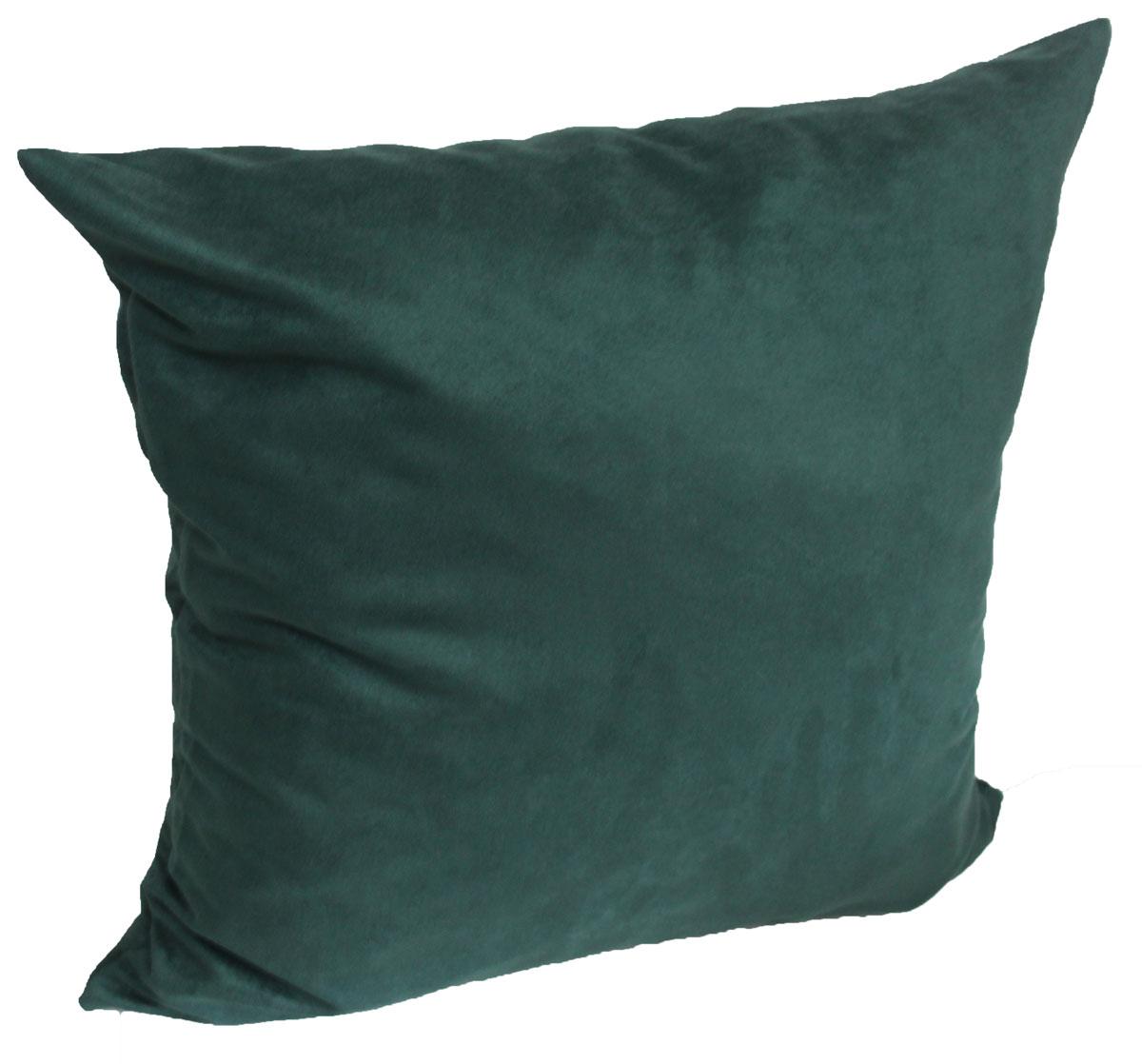 kissen dekokissen sofakissen 50 x 50 cm alcantara imitat dunkelgruen ebay. Black Bedroom Furniture Sets. Home Design Ideas