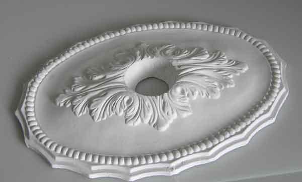 stuck ovale rosette aus gips stuckrosette deckenrosette. Black Bedroom Furniture Sets. Home Design Ideas